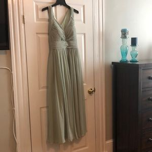 Azazie bridesmaid dress- dusty sage
